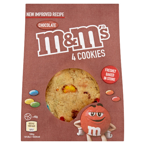 M&M's 4 Chocolate Cookies