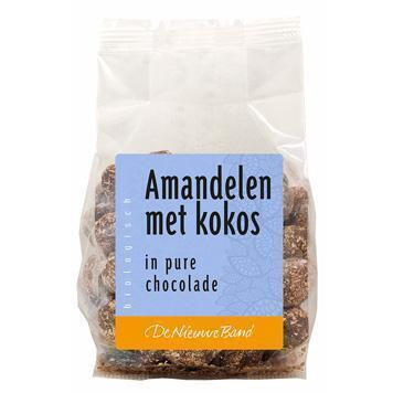 Amandelen kokos in pure chocolade (175g)