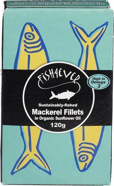 Makreelfilets in zonnebloemolie, MSC (blik 120g) (120g)