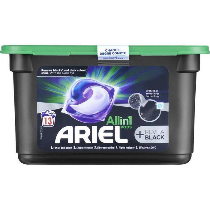 Ariel All-in-1 Pods Wasmiddelcapsules +Revitablack, 13 Wasbeurten