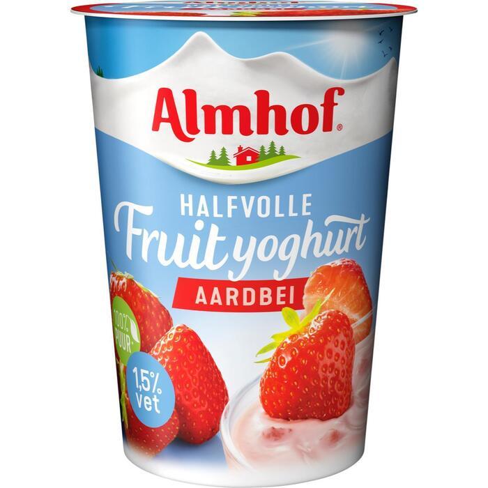 Halfvolle fruityoghurt aardbei (500g)