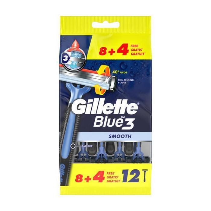 Gillette Blue3 Wegwerpmesjes Voor Mannen 8+4