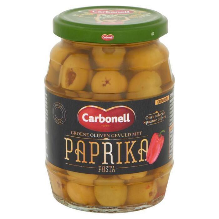 Groene Olijven gevuld met Paprika (pot, 350g)