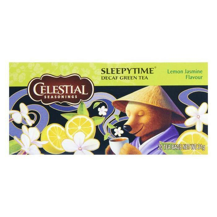 Celestial Seasonings Sleepytime Lemon Jasmine Flavour Decaf Green Tea 20 Stuks 31g (20 × 31g)