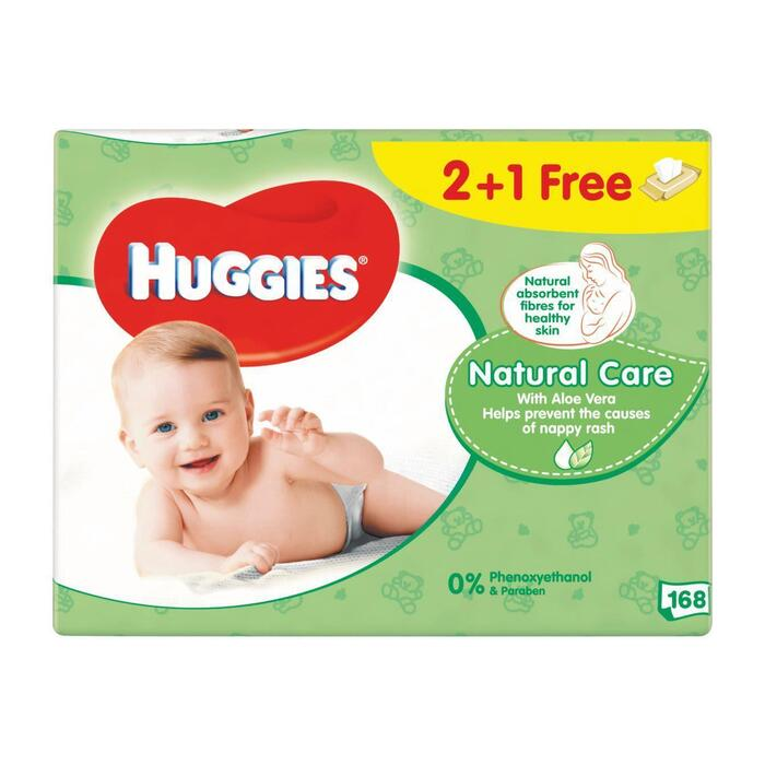 Huggies Baby doekjes natural care 2+1