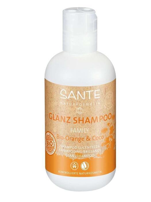 Family Glansshampoo Bio-Sinaasappel-Kokos SANTE 200ml (200ml)