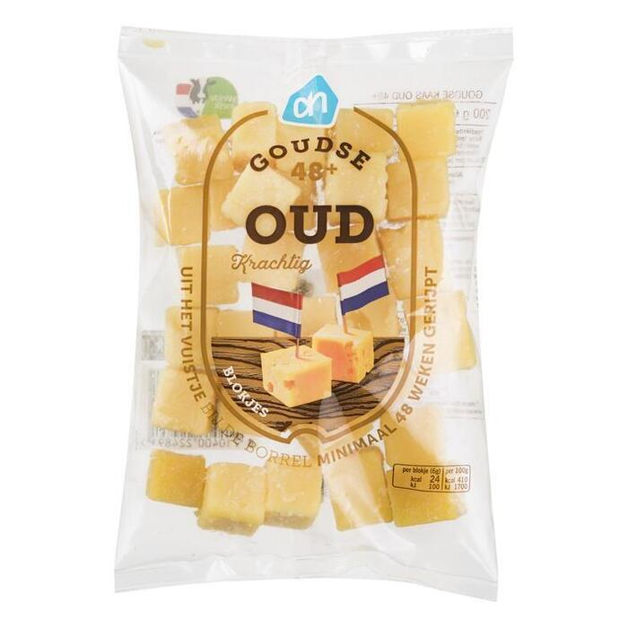 Goudse kaas oud 48+ blokjes (200g)