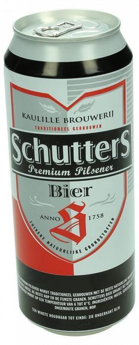 Schutters bier (blik, 0.5L)