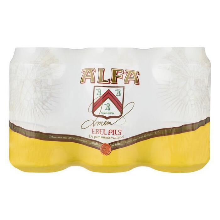 Alfa Bier blik 6 x 33 cl (rol, 6 × 33cl)