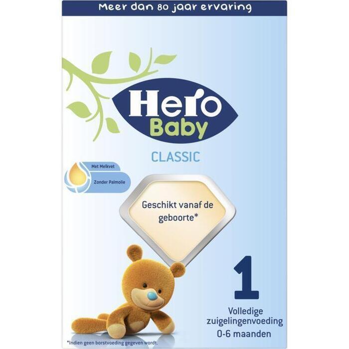 HERO BABY  Zuigelingenvoeding Standaard 1 2x350g Doosje (700g)