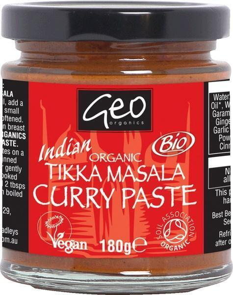 Geo Organics, Bio Tikka Masala Curry Paste (pot, 180g)