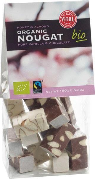 Nougat amandel chocola vanille (zak, 150g)