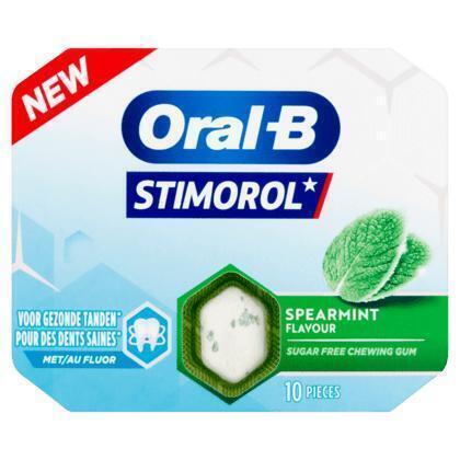 Stimorol Oral-B Spearmint Flavour Sugar Free 10 Stuks 17 g (blister, 17g)