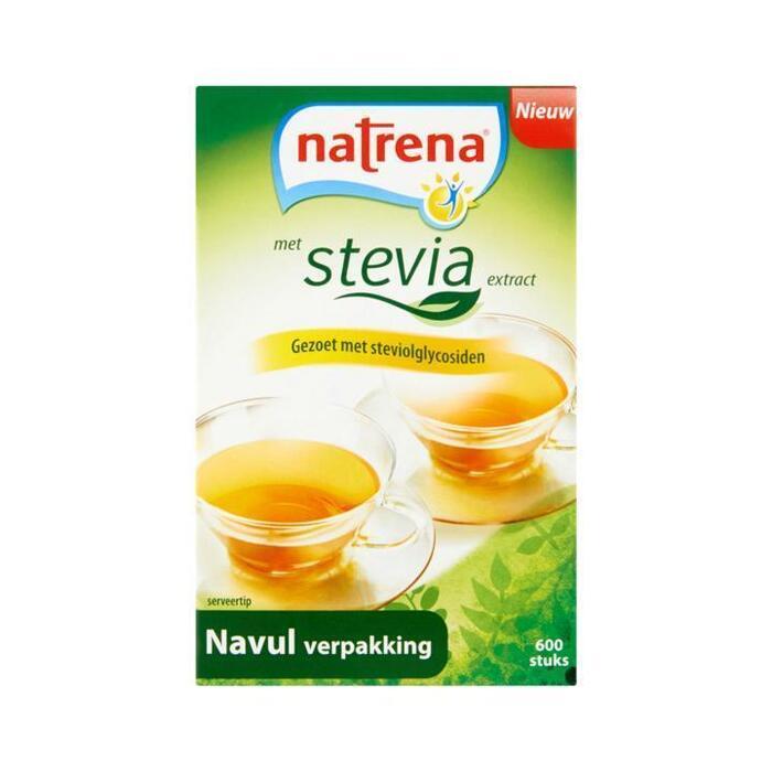 Natrena met Stevia Extract Navul Verpakking 600 Stuks 38,4 g (600 × 38.4g)