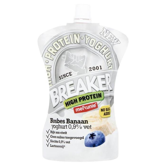 Breaker high protein bosbes-banaan (knijpzak, 200g)