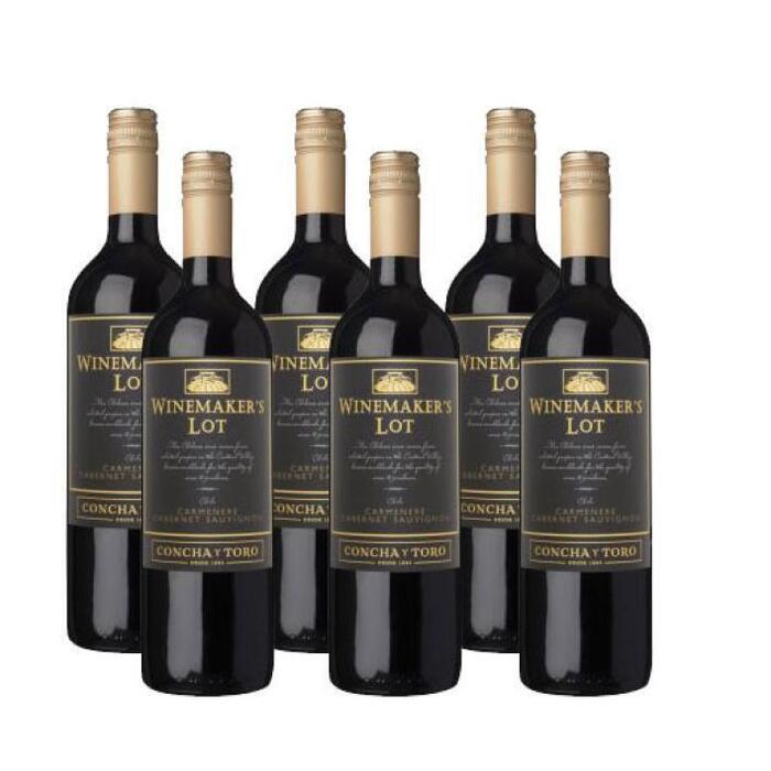 Winemaker's Lot Carmenere -cabernet sauvignon doos (6 × 0.75L)