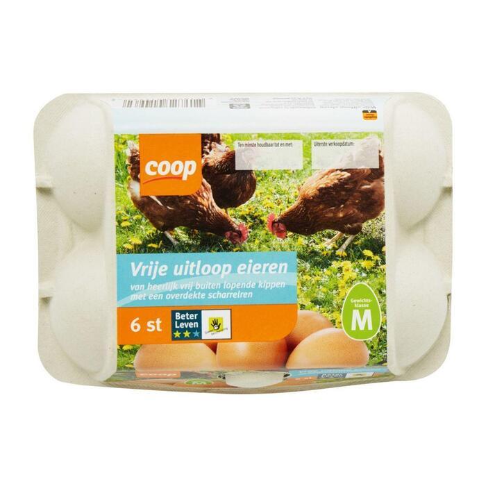 Vrije uitloop eieren (6 stuks)