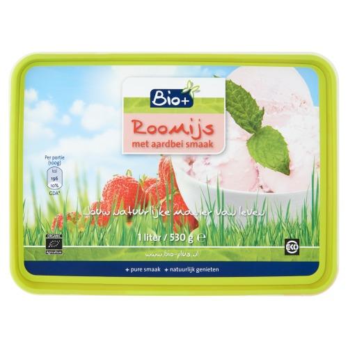 Roomijs met aardbei smaak (500g)
