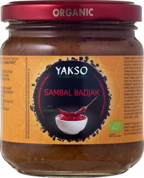 Biologische Sambal Badjak (pot, 200g)
