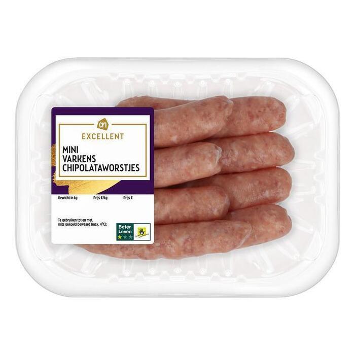 Mini varkens chipolataworstje (200g)