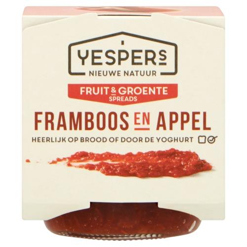 Fruit & Groente Spreads Appel en Framboos (pot, 170g)