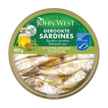 John West Petit sardines extra vergine (106g)