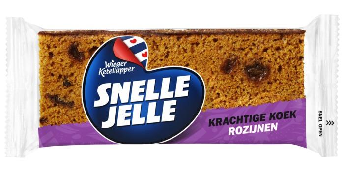 Snelle Jelle Kruidkoek Rozijn 5-pack 350 g (Stuk, 70g)