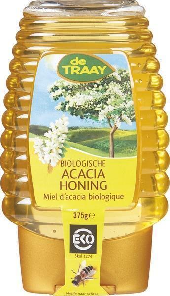 Acaciahoning knijpfles (375g)