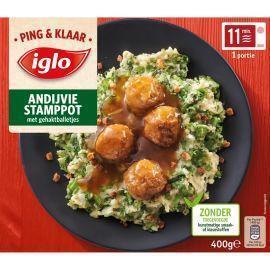 Iglo Ping & Klaar Andijvie stamppot (400g)