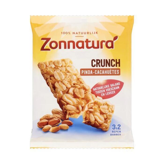 Zonnatura Pinda crunch reep (3 × 45g)