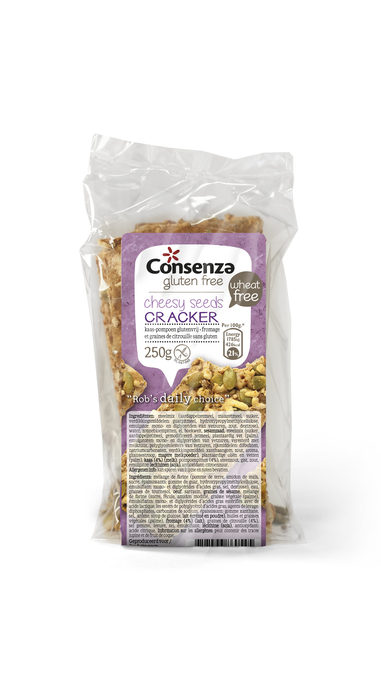 Consenza Crackers kaas/ pompoen (250g)