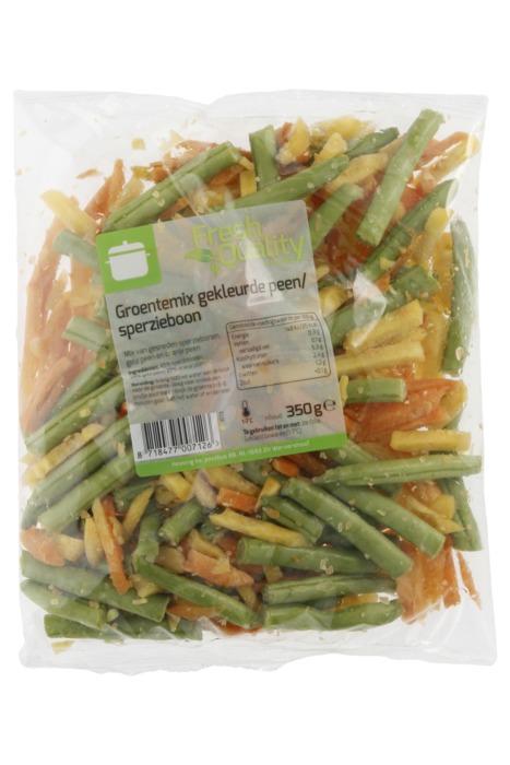 Groentemix Gekleurde Peen en Sperzieboon 350 g (350g)