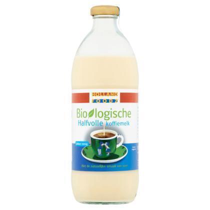 Holland Foodz Biologische Halfvolle Koffiemelk 500 g (46.5cl)