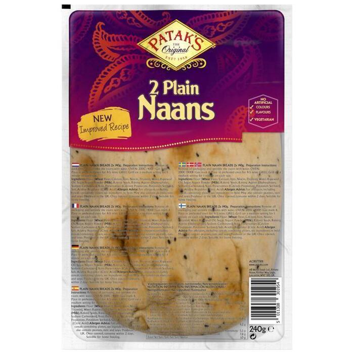 Patak's Naan plain (2 × 260g)