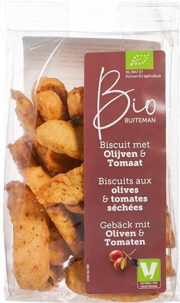Biscuits met Olijven & Tomaat (100g)