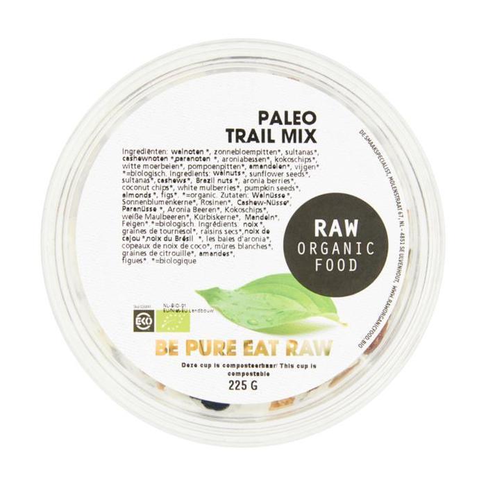 Raw Organic Food Paleo Trail Mix 225 g (Stuk, 225g)