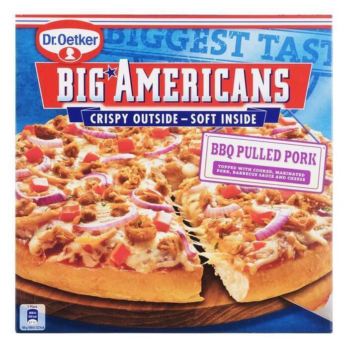 Dr. Oetker Big Americans pizza BBQ pulled pork (420g)