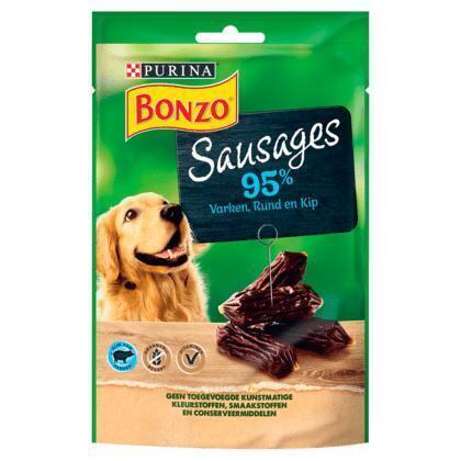 PURINA® BONZO Snacks Sausages 7 x 70 g (70g)