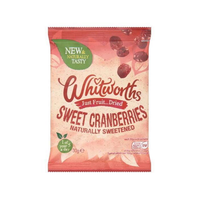 Whitworths Stukjes Zoete Cranberrie 30 g (30g)