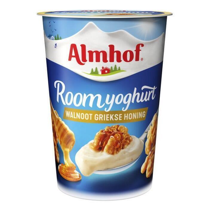 Roomyoghurt walnoot honing (Stuk, 500g)