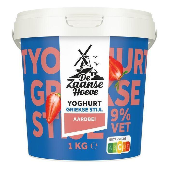 De Zaanse Hoeve Griekse stijl yoghurt aardbei (1kg)