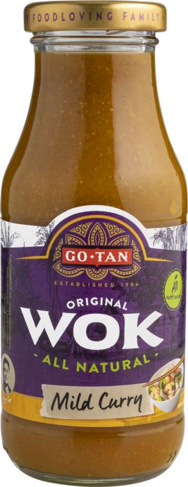 Go-Tan Original Wok Mild Curry 240 MLT fles (240ml)