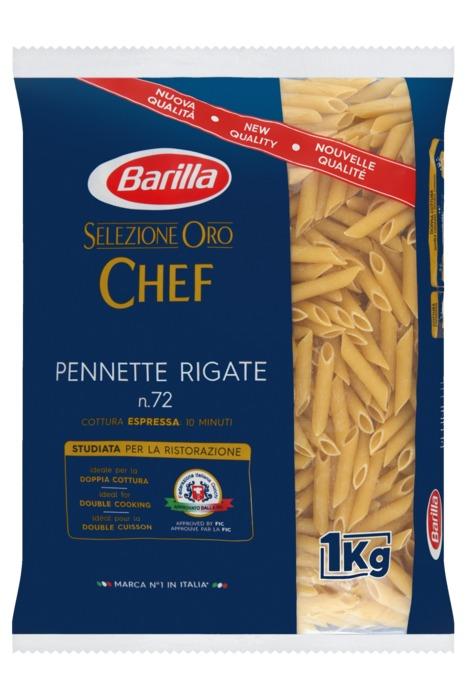 Barilla Selezione Oro Chef Pennette Rigate n.72 1000 g (1kg)