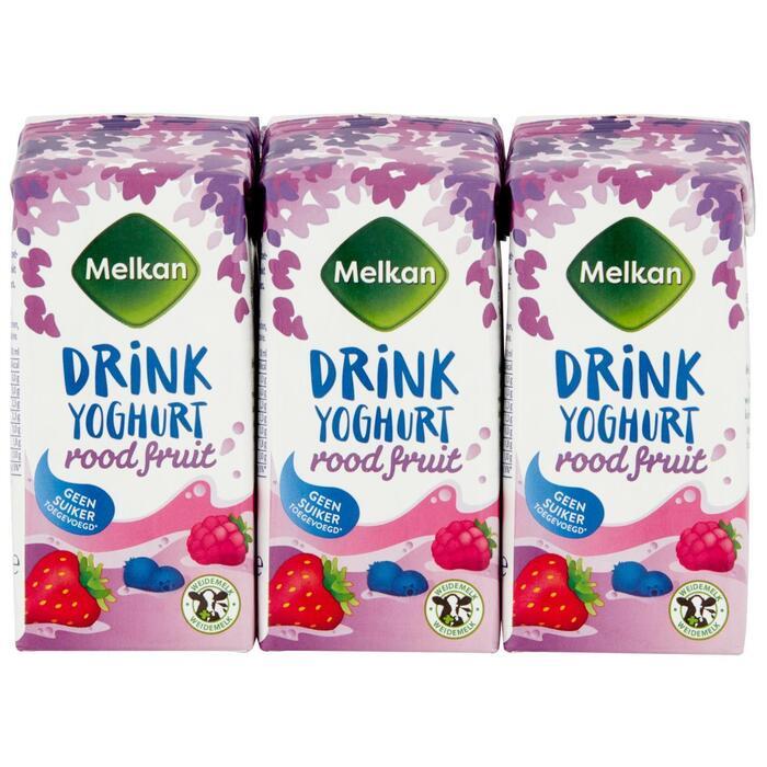 Drinkyoghurt rode vruchten 6 pack (6 × 200ml)