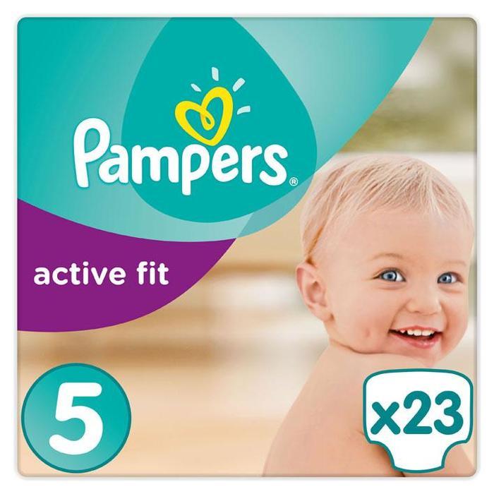 Pampers Active Fit Maat 5, 11-23kg, 23 Luiers, Beste Pasvorm (23 st.)