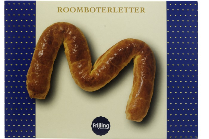 Frijling Roomboter banketletter M (400g)