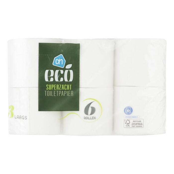 AH Ecologisch toiletpapier 3-laags (rollen)
