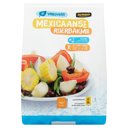 Jumbo Mexicaanse Roerbakmix Vriesvers 600 g (600g)