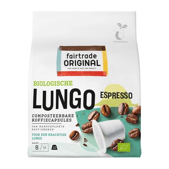 Fairtrade Original Espresso lungo capsules bio (10 × 50g)