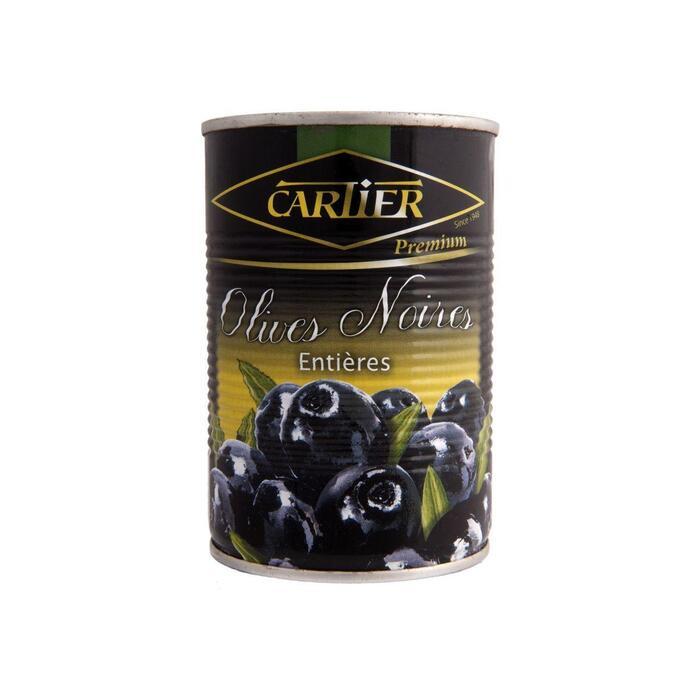 Cartier Premium Zwarte Olijven 400g (blik, 400g)